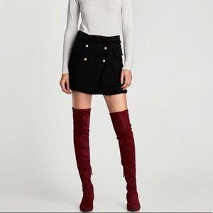 Zara Kitten Heel Over The Knee Boots